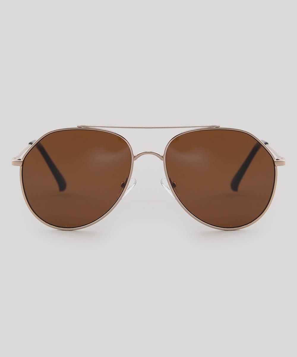 191592130 ... Oculos-de-Sol-Aviador-Feminino-oneself-Dourado-9566232-
