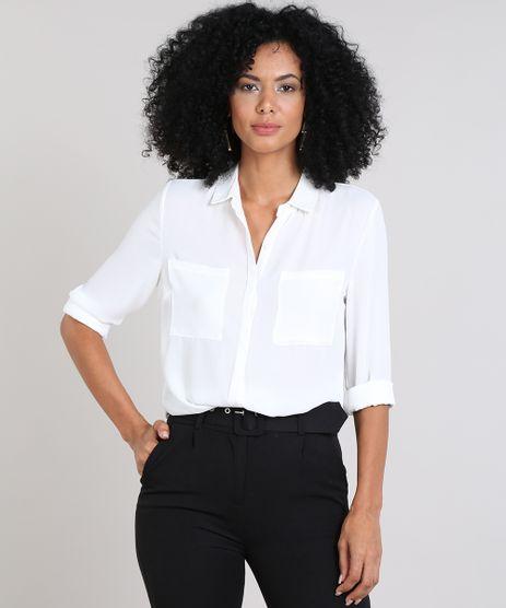 b1e86bffa1049c Moda Feminina - Camisas Branco – cea