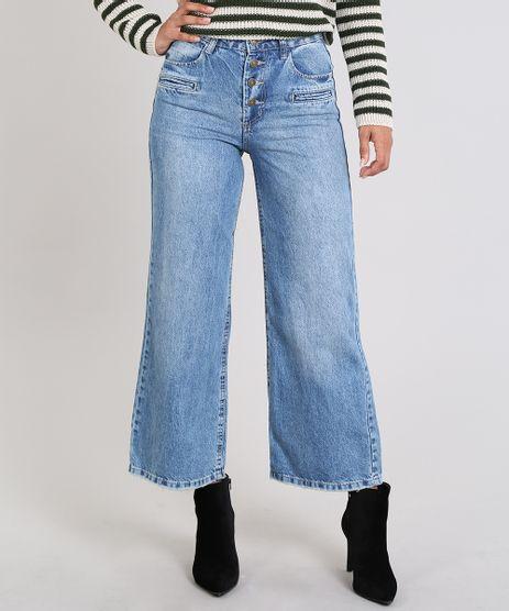 Calca-Jeans-Feminina-Reta-Cintura-Media-Azul-Medio-9589549-Azul_Medio_1