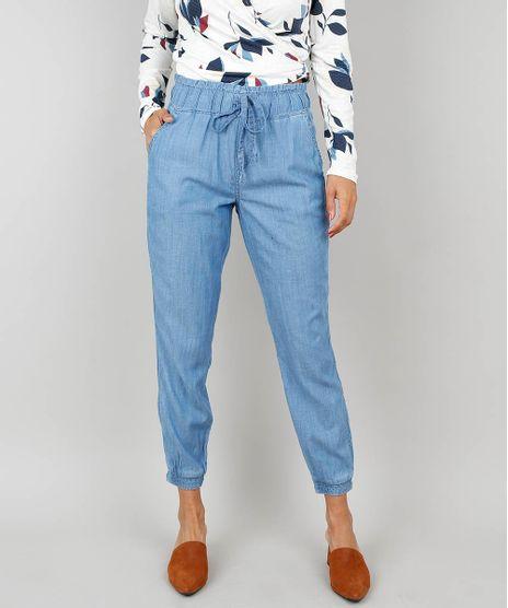 Calca-Jeans-Feminina-Clochard-Jogger-Com-Amarracao-Azul-9458589-Azul_1