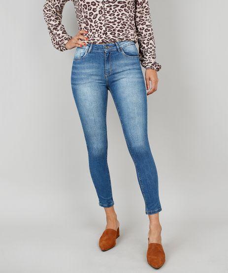 Calca-Jeans-Feminina-Skinny-Cintura-Media-Azul-9537867-Azul_1
