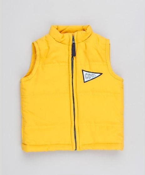 Colete-Infantil-Puffer-Com-Bolsos-Amarelo-9487291-Amarelo_1