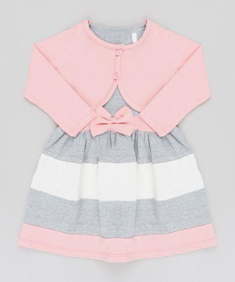 Vestido-Infantil-Sem-Manga-Cinza-Mescla---Bolero-Manga-Longa-Rosa-Claro-Rosa-Claro-9540146-Rosa_Claro_1