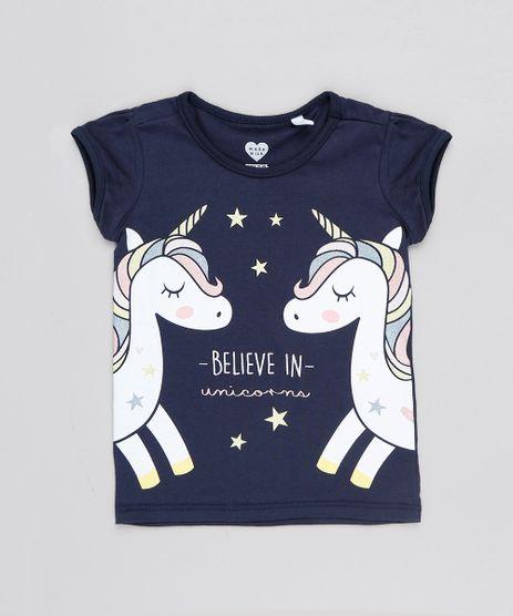 Blusa-Infantil-Unicornio--Believe-In-Unicorns--Manga-Curta-Decote-Redondo-Azul-Marinho-9556292-Azul_Marinho_1