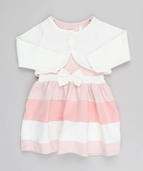Vestido-Infantil-Sem-Manga-Rosa-Claro---Bolero-Manga-Longa-Off-White-Off-White-9540144-Off_White_1