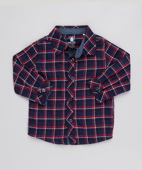 Camisa-Infantil-Xadrez-Manga-Longa-Azul-Marinho-9451015-Azul_Marinho_1
