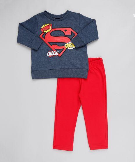 Conjunto-Infantil-Super-Homem-de-Blusao-em-Moletom-Chumbo---Calca-Em-Moletom--Vermelha-9502220-Vermelho_1