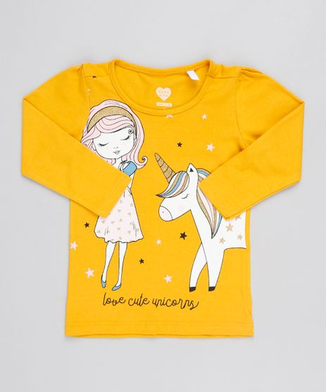 Blusa-Infantil-Unicornio--Love-Cute-Unicorns--Manga-Longa-Decote-Redondo-Amarela-9556484-Amarelo_1