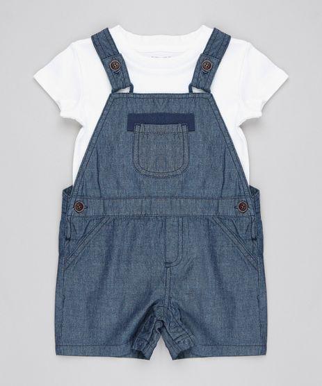 Jardineira-Jeans---Body-Infantil-Xadrez-Com-Bolso-Azul-Marinho-9450999-Azul_Marinho_1