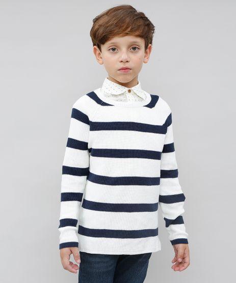 Sueter-Infantil-Listrado-em-Trico-Off-White-9377137-Off_White_1