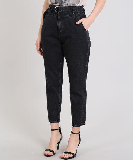 Calca-Mom-Jeans-Feminina-Mindset-com-Cinto--Preta-9613269-Preto_1