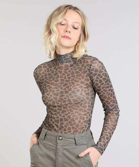 Blusa-Feminina-Mindset-Estampada-Animal-Print-Gola-Alta-em-Tule-Bege-9560337-Bege_1