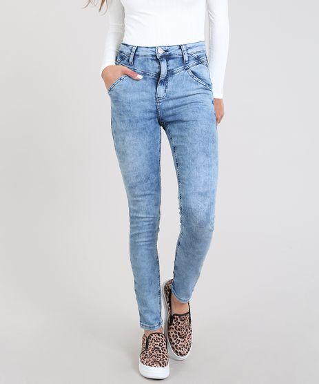 Calca-Jeans-Feminina-Super-Skinny-com-Bolsos-Azul-Claro-9589524-Azul_Claro_1