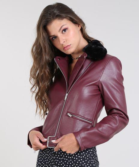 Jaqueta-Biker-Feminina-com-Pelo-Vinho-9436342-Vinho_1