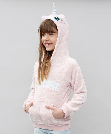 Blusao-Infantil-Unicornio-em-Pelucia-Texturizado-Rosa-Claro-9433649-Rosa_Claro_1