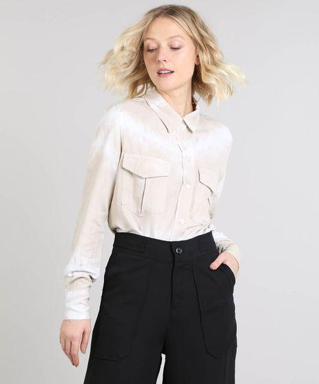 Camisa-Feminina-Mindset-Tie-Dye-com-Bolsos-Manga-Longa-Bege-Claro-9582339-Bege_Claro_1