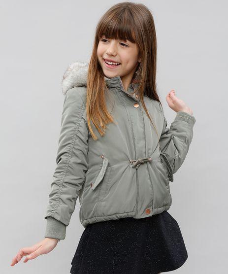 Jaqueta-Puffer-Infantil-com-Capuz-e-Pelo-Verde-9431752-Verde_1