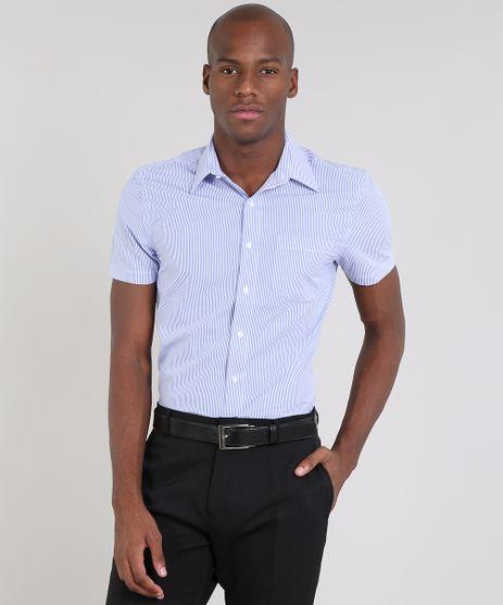 Camisa-Masculina-Comfort-Listrada-com-Bolso-Manga-Curta-Azul-9430716-Azul_1