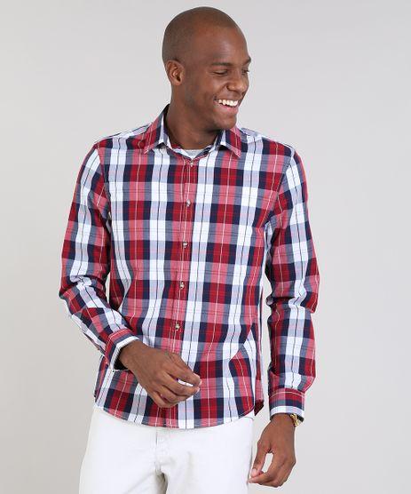 Camisa-Masculina-Comfort-Estampada-Xadrez-Manga-Longa-Azul-Marinho-9436396-Azul_Marinho_1