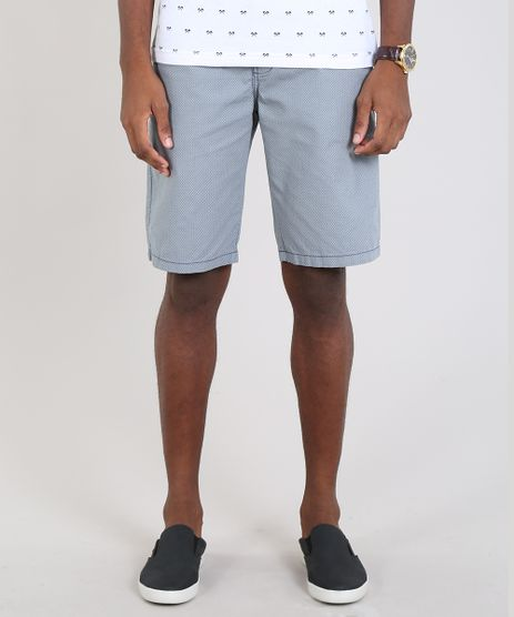 Bermuda-Masculina-Slim-Estampada-Mini-Print-Azul-9536073-Azul_1