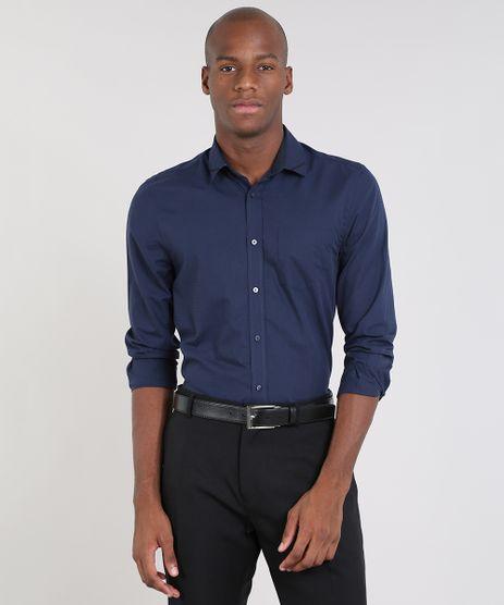 Camisa-Masculina-Comfort-com-Bolso-Manga-Longa-Azul-Marinho-9448148-Azul_Marinho_1