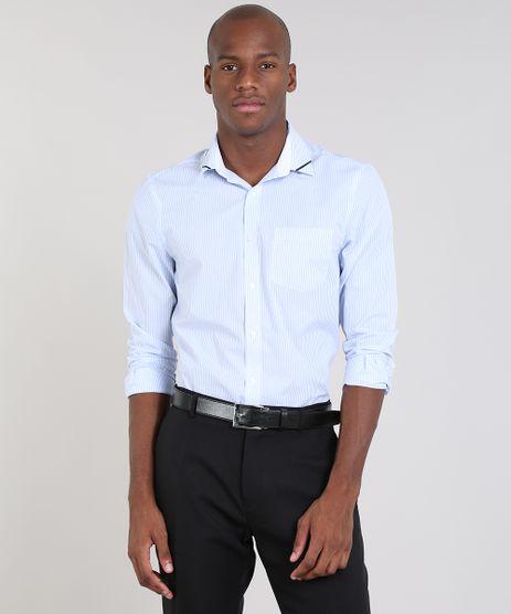 Camisa-Masculina-Comfort-Listrada-com-Bolso-Manga-Longa-Azul-Claro-9430715-Azul_Claro_1