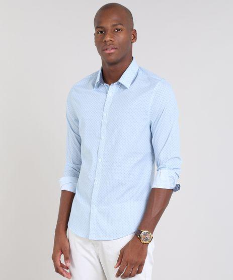 Camisa-Masculina-Slim-Listrada-Estampada-Mini-Print-Manga-Longa-Azul-Claro-9436428-Azul_Claro_1