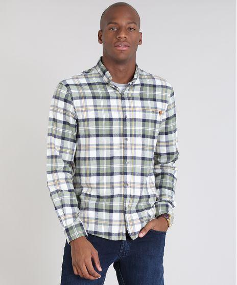 Camisa-Masculina-Comfort-Estampada-Xadrez-em-Flanela-Manga-Longa-Off-White-9530840-Off_White_1