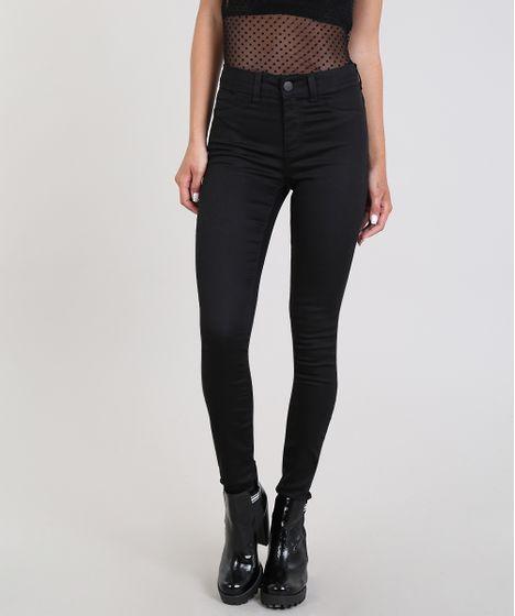 2e1cb22bb Algodao Mais Sustentavel. Calca-Jeans-Feminina-Super-Skinny-Energy-Jeans--Preta  ...