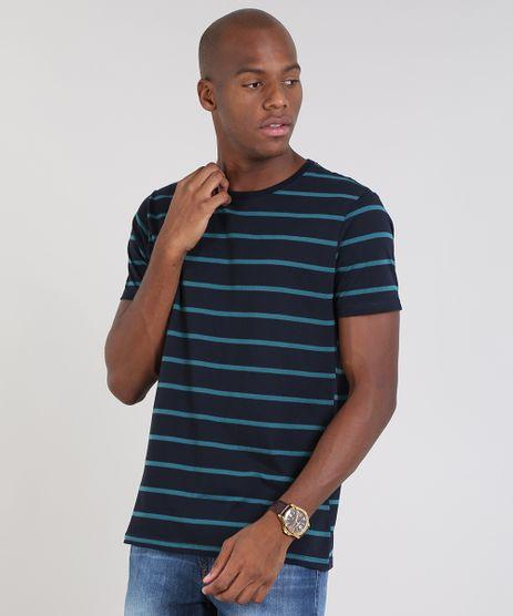 Camiseta-Masculina-Basica-Listrada-Manga-Curta-Gola-Careca-Azul-Marinho-9448509-Azul_Marinho_1