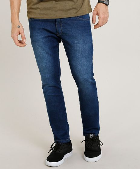 2c8533075 Calca-Jeans-Masculina-Slim-Azul-Medio-8709480-Azul Medio 1