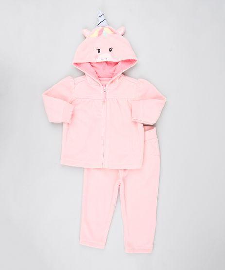 Conjunto-Infantil-Unicornio-de-Jaqueta-com-Capuz---Calca-em-Fleece-Rosa-Claro-9444010-Rosa_Claro_1