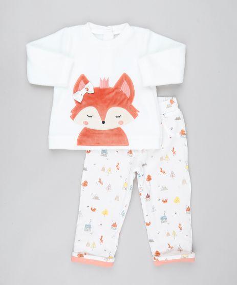 Conjunto-Infantil-Raposa-de-Blusao-em-Fleece---Calca-Estampada-em-Moletom-Off-White-9450986-Off_White_1