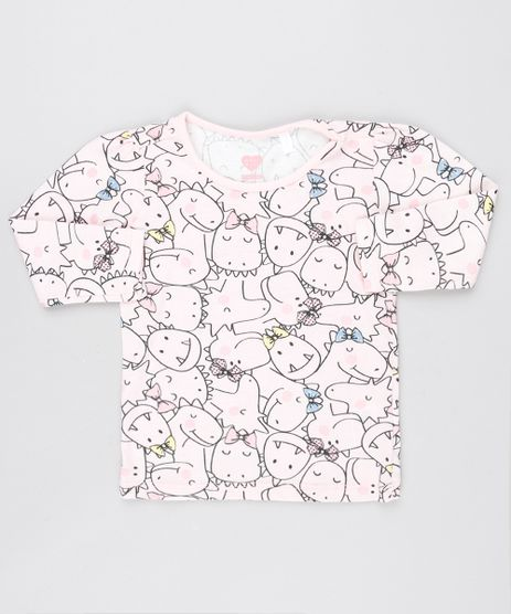 Blusa-Infantil-Estampada-Dinossauros-Manga-Longa-Decote-Redondo-Rosa-Claro-9556477-Rosa_Claro_1