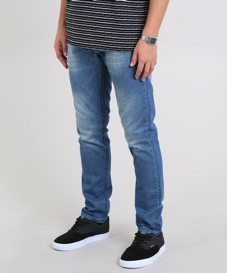 Calca-Jeans-Masculina-Slim-com-Puidos-Azul-Medio-9532881-Azul_Medio_1