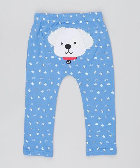 Calca-Infantil-Cachorro-Estampado-com-Ossinhos-Azul-9445924-Azul_1
