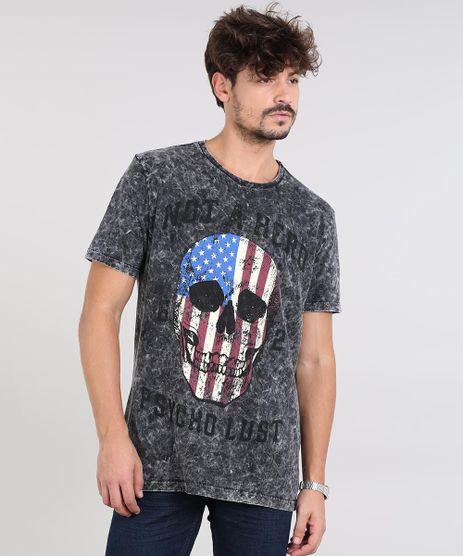 Camiseta-Masculina-com-Estampada-de-Caveira-Manga-Curta-Decote-Careca-Preta-9525226-Preto_1