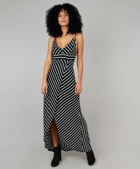 Vestido-Feminino-Longo-Listrado-Transpassado-Alca-Fina-Preto-9572444-Preto_1