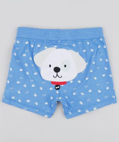 Short-Infantil-Cachorro-Estampado-com-Ossinhos-Azul-9445927-Azul_1