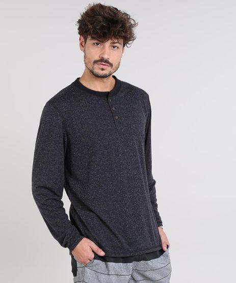 Camiseta-Masculina-Botone-com-Botoes-Manga-Longa-Gola-Careca-Preta-9542461-Preto_1