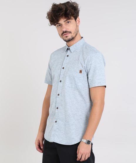 Camisa-Masculina-Listrada-com-Bolso-Manga-Curta-Azul-Claro-9525308-Azul_Claro_1