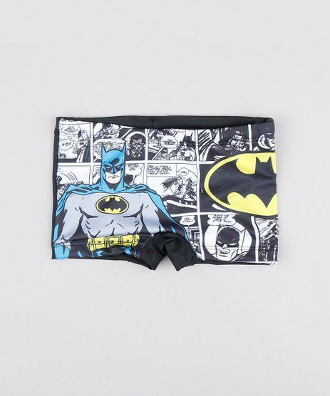 Sunga-Boxer-Infantil-Estampada-Batman-com-Protecao-Uv50---Preta-9519580-Preto_1