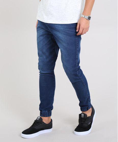 Calca-Jeans-Masculina-Jogger-Skinny-com-Bolsos-Azul-Escuro-9583522-Azul_Escuro_1