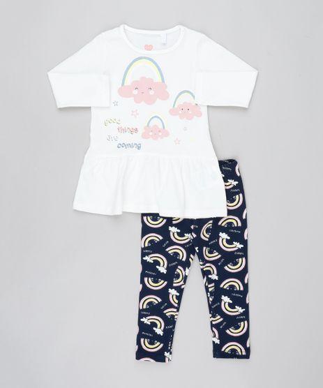 Conjunto-Infantil-de-Blusa-com-Nuvens-Manga-Longa-Off-White---Calca-Legging-Estampada-Azul-Marinho-9557595-Azul_Marinho_1