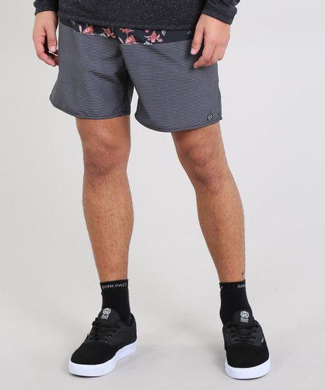 Short-Masculino-Estampado-com-Bolso-Preto-9535127-Preto_1