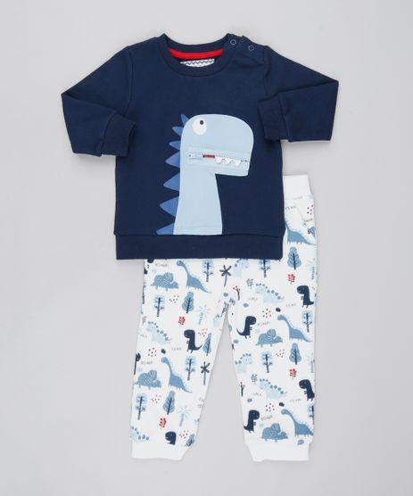 Conjunto-Infantil-Dinossauro-de-Blusao-com-Estampa-Interativa-Azul-Marinho---Calca-Estampada-em-Moletom-Off-White-9451014-Off_White_1