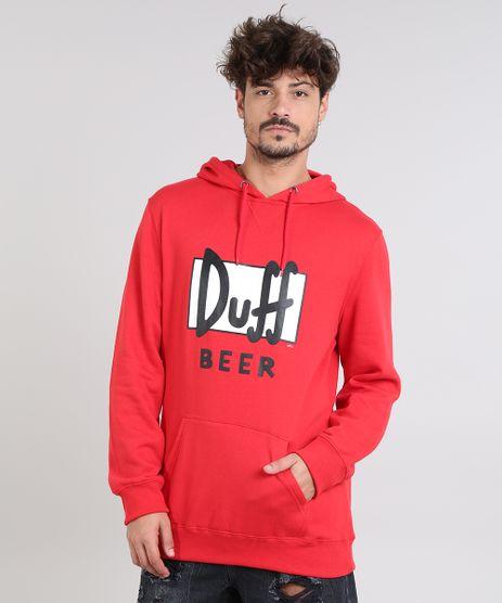 Blusao-Masculino-Duff-Beer-Os-Simpsons-com-Capuz-e-Bolso-em-Moletom-Vermelho-9340184-Vermelho_1