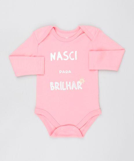 Body-Infantil--Nasci-para-Brilhar--Manga-Longa-Decote-Redondo-Rosa-medio-9443092-Rosa_Medio_1