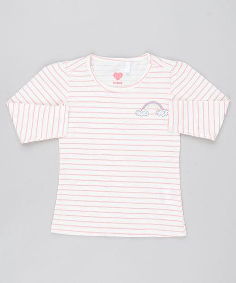 5807d9c3db Blusa-Infantil-Estampada-Listrada-Manga-Longa-Decote-Redondo-