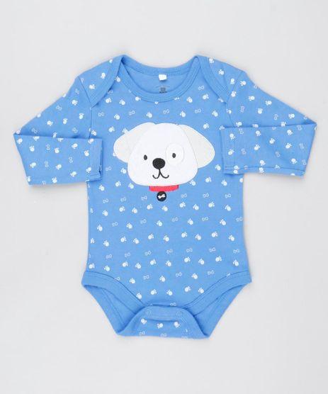 Body-Infantil-Cachorro-Estampado-com-Ossinhos-Manga-Longa-Azul-9445926-Azul_1